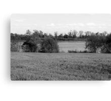 Lakeview - Black and White Canvas Print