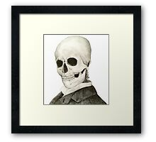 Tesla Skeleton Framed Print