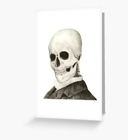 Tesla Skeleton Greeting Card