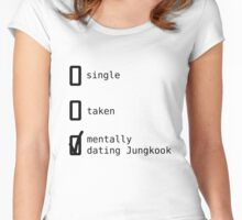 Mentally Dating Jungkook - BTS Women's Fitted Scoop T-Shirt