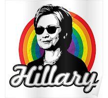 Rainbow Hillary Poster