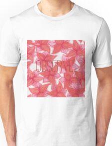 OBSERVE- red lilies aquarell  Unisex T-Shirt