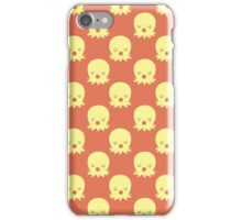 Kissy Face Yellow Octopus Pattern iPhone Case/Skin