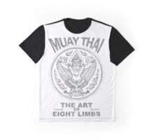 muay thai garuda sacred spirit of thailand the art of eight limbs Graphic T-Shirt