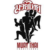 muay thai shadow traditional thailand martial art Photographic Print