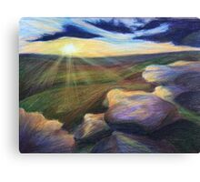 The Early Rays Canvas Print