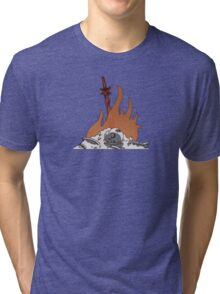 Bonfire Decal Tri-blend T-Shirt