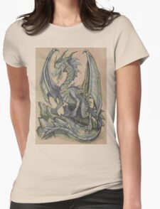 Awesome Dragon Drawing  Womens Fitted T-Shirt