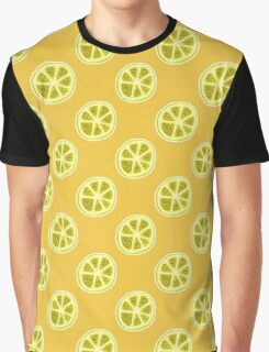 Lemon Citrus Fruit Pattern Graphic T-Shirt