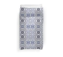 Watercolor Morrocan Tile pattern blue Duvet Cover