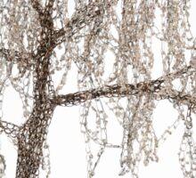 Winter willow tree Sticker