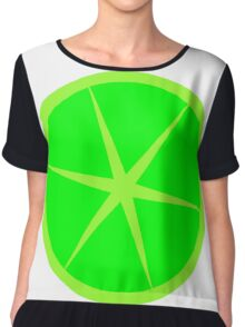 lime cute fun summer design Chiffon Top