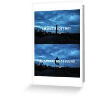 LOST BOY - Troye Sivan  Greeting Card