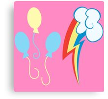My little Pony - Pinkie Pie + Rainbow Dash Cutie Mark Canvas Print