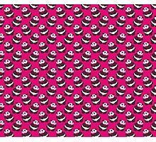 Love Panda Hot Pink Pattern Photographic Print