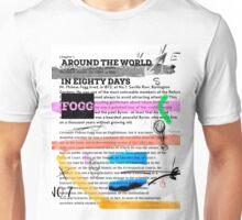 Around the world in eighty days - collage Unisex T-Shirt