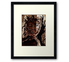 meanwhile in the shadows . . . .  Framed Print