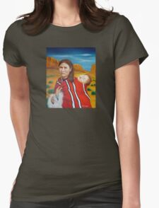 Navajo Woman with Child Womens Fitted T-Shirt