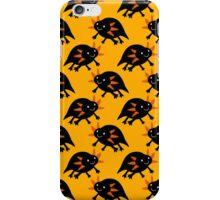 Black Axolotl Yellow Pattern iPhone Case/Skin