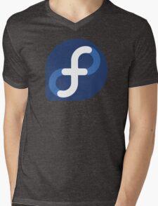 Fedora Logo Mens V-Neck T-Shirt