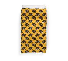 Black Axolotl Yellow Pattern Duvet Cover