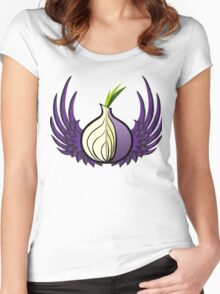 Tor Logo with Wings Women's Fitted Scoop T-Shirt