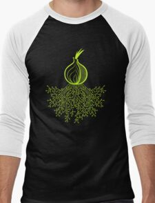 Tor Circuit Design Men's Baseball ¾ T-Shirt