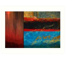 Color Abstraction LXI Art Print