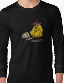 Meditating GNU Playing a Flute Long Sleeve T-Shirt