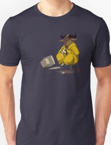 Meditating GNU Playing a Flute Unisex T-Shirt