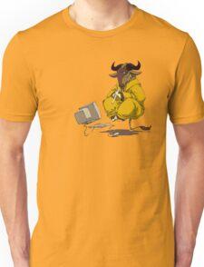 Meditating GNU Playing a Flute Unisex T-Shirt