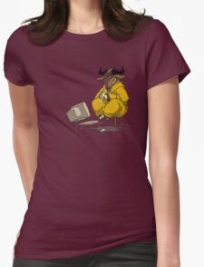 Meditating GNU Playing a Flute Womens Fitted T-Shirt