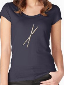 Hard Rock drumstick  Women's Fitted Scoop T-Shirt