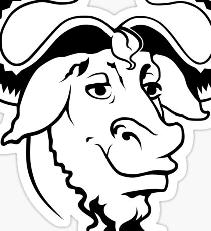 GNU head  Sticker