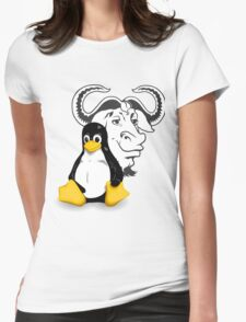 GNU and Tux Womens Fitted T-Shirt