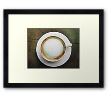 Froth on a Cappuccino Framed Print