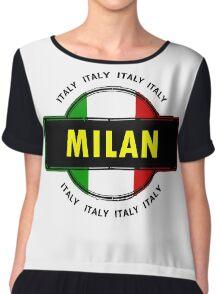 Milan, Italy Chiffon Top