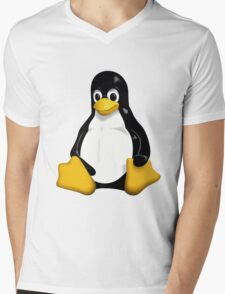 Tux - The Linux Penguin Mens V-Neck T-Shirt