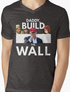 Daddy Build the Wall Mens V-Neck T-Shirt