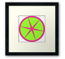 Rasberry Lime Rickey Summer fruit design Framed Print