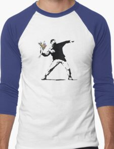 Flower man - Street art Men's Baseball ¾ T-Shirt
