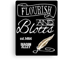 Flourish & Blotts. Canvas Print