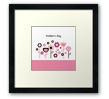 Pink flowers for Mother Framed Print