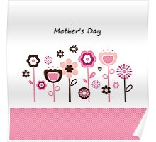 Pink flowers for Mother Poster