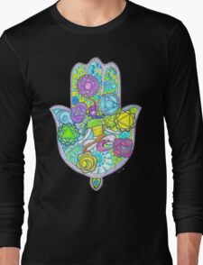 Chakras and the Hand of Fatima Long Sleeve T-Shirt