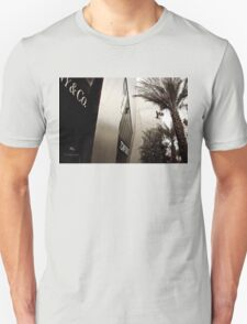 Tom Ford Menswear Shop in Vegas  2 - Black and White 2 Unisex T-Shirt