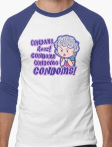 CONDOMS, Rose! Men's Baseball ¾ T-Shirt