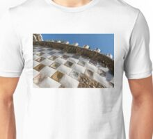 Capricious Trencadis Mosaics - Antoni Gaudi's Tiles at Park Guell in the Hot Mediterranean Sun Unisex T-Shirt