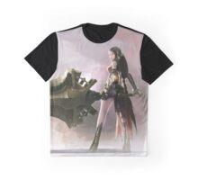 Anime Girl Sword Play Graphic T-Shirt