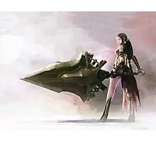 Anime Girl Sword Play Photographic Print